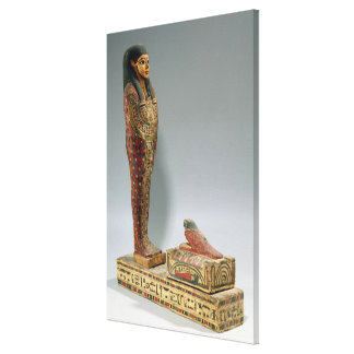 Statuette of Osiris of Iahmes (painted wood) Canvas Print