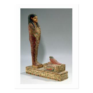 Statuette of Osiris of Iahmes (painted wood) Postcard