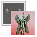 Statuette of Pazuzu, an Assyrian wind demon Pinback Button