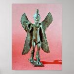 Statuette of Pazuzu, an Assyrian wind demon Posters