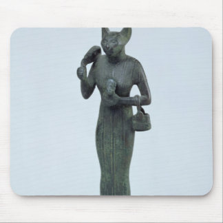 Statuette of the goddess Bastet Mouse Pad