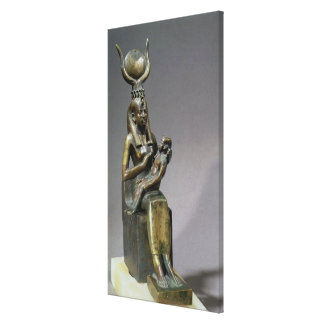 Statuette of the goddess Isis and the child Horus Canvas Print