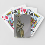 Statuette of the goddess Isis and the child Horus Bicycle Poker Cards