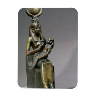 Statuette of the goddess Isis and the child Horus Rectangular Photo Magnet