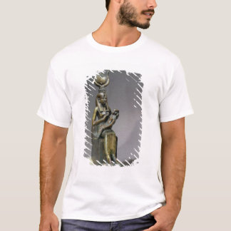 Statuette of the goddess Isis and the child Horus T-Shirt