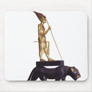 Statuette of the king upon a Leopard Mouse Pad
