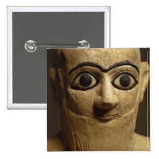 Statuette of the official or steward Ebih-Il worsh 2 Inch Square Button