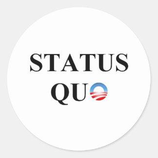 STATUS QUO CLASSIC ROUND STICKER