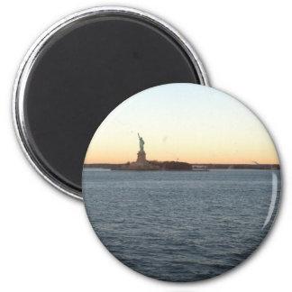 Statute of Liberty Love 2 Inch Round Magnet