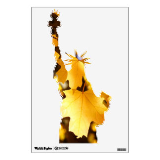 Statute of Libety wall decall Autumn Leaves Yellow Wall Graphics