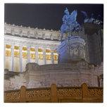 Staue and columns at the monument Vittorio Ceramic Tiles