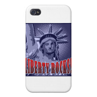 Staue de la libertad ¡Rocas de la libertad iPhone 4/4S Carcasas