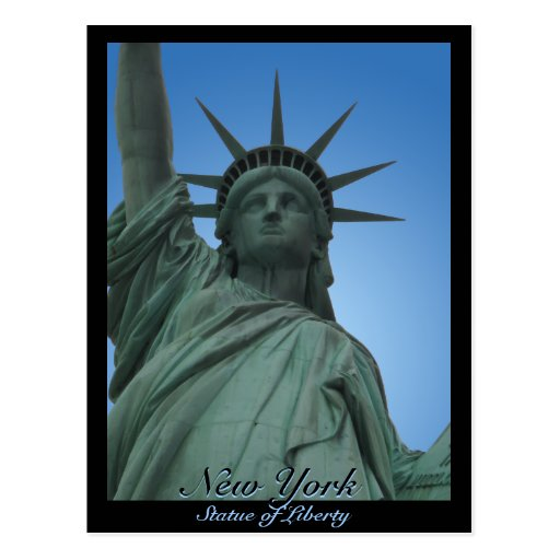 Staue de la postal de encargo de Nueva York de la
