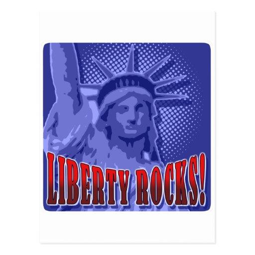 Staue Of Liberty: Liberty Rocks! Postcard