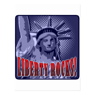 Staue Of Liberty: Liberty Rocks! Postcard