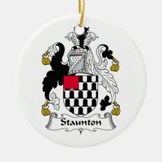 Staunton Family Crest Double-Sided Ceramic Round Christmas Ornament