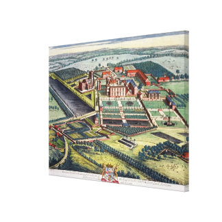 Staunton Harold in the county of Leicester engrave Canvas Print
