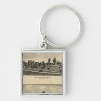 Staunton Male Academy Silver-Colored Square Keychain