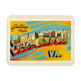 Staunton Virginia VA Old Vintage Travel Postcard- Magnet