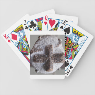 Staurolite , perfect crystal intersection bicycle playing cards