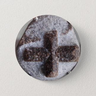 Staurolite , perfect crystal intersection pinback button