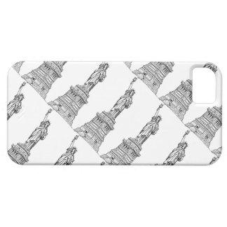 Staute negro y blanco del caso del iPhone 5/5S de iPhone 5 Funda