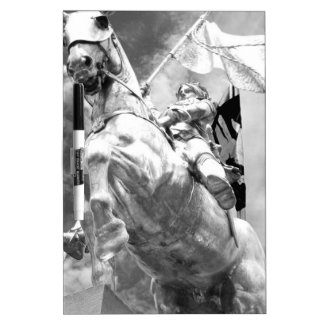 Staute of Rider on Horse Dry-Erase Whiteboard