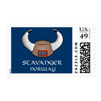 Stavanger Norway Viking Hat Postage Stamp