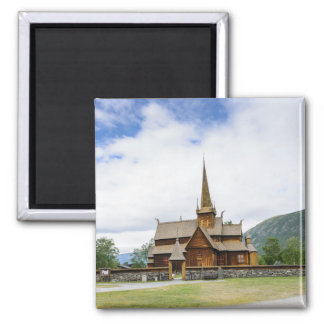 Stave church in Lom, Norway magnet