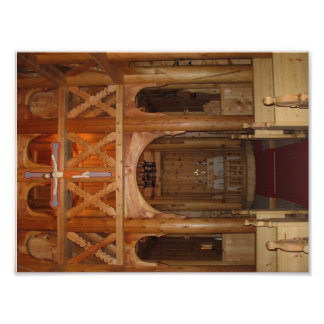 Stave Church Interior Poster