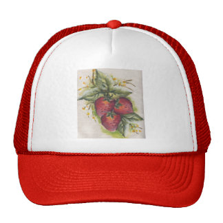 stawberry mesh hats