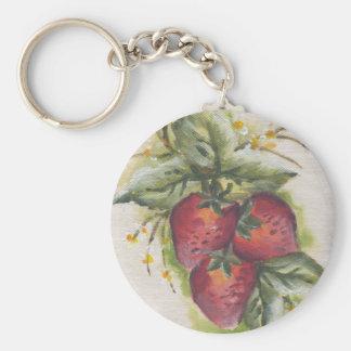 stawberry llavero redondo tipo pin