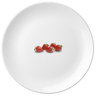 stawberry porcelain plate