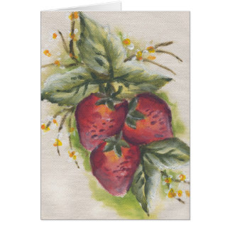 stawberry tarjeta de felicitación