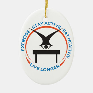 STAY ACTIVE LIVE LONGER ORNAMENTS