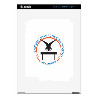 STAY ACTIVE LIVE LONGER DECALS FOR iPad 3