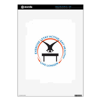 STAY ACTIVE LIVE LONGER DECALS FOR THE iPad 2