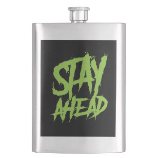 Stay Ahead Neon Green Flask