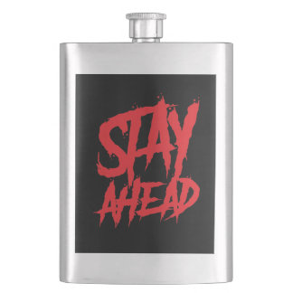 Stay Ahead Red wall paint Flask