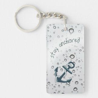 STAY ANCHORED Motivational Double-Sided Rectangular Acrylic Keychain