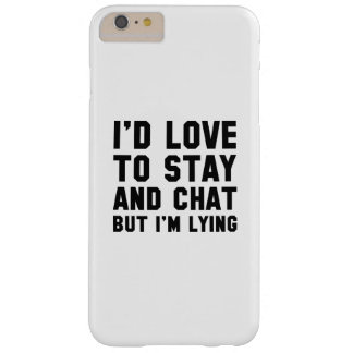 Stay And Chat Barely There iPhone 6 Plus Case