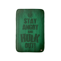 Stay Angry And Hulk Out Bath Mat