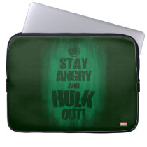 Stay Angry And Hulk Out Laptop Sleeve
