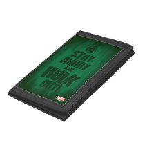 Stay Angry And Hulk Out Tri-fold Wallet
