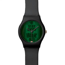 Stay Angry And Hulk Out Wristwatch