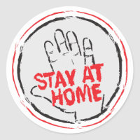 Stay at Home Classic Round Sticker