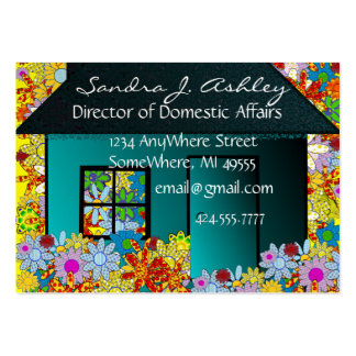 Stay At Home Mom-change background Large Business Card