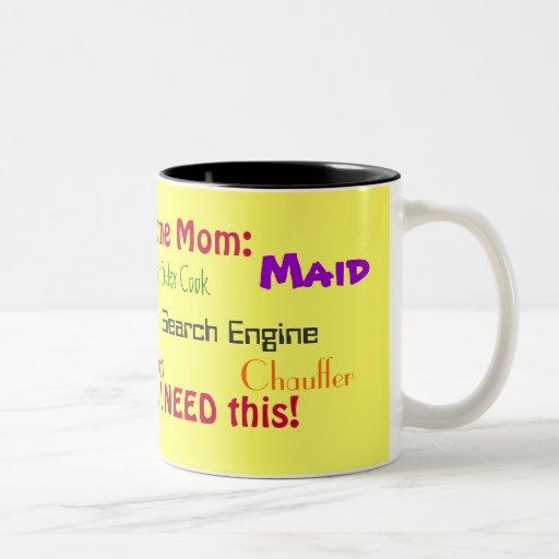 Stay At Home Mom: Job Discription Mugs