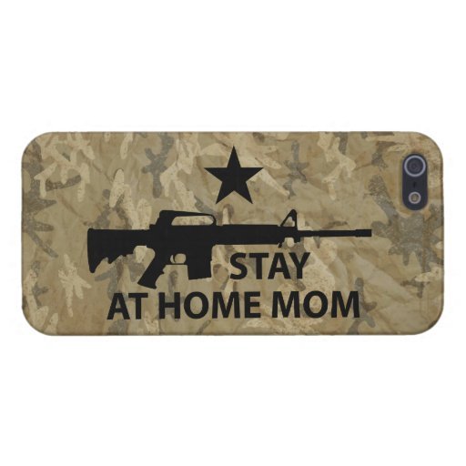 Stay at Home Mom Protection iPhone 5 Covers