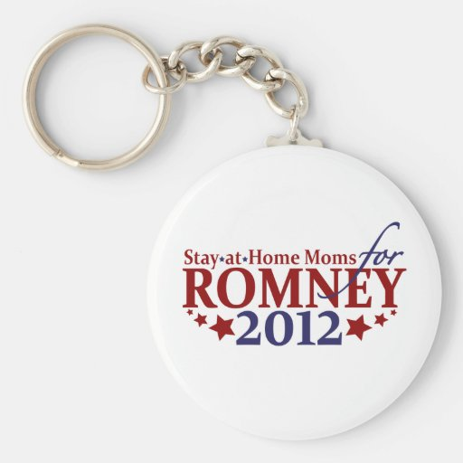 Stay-at-Home Moms for Romney 2012 Basic Round Button Keychain